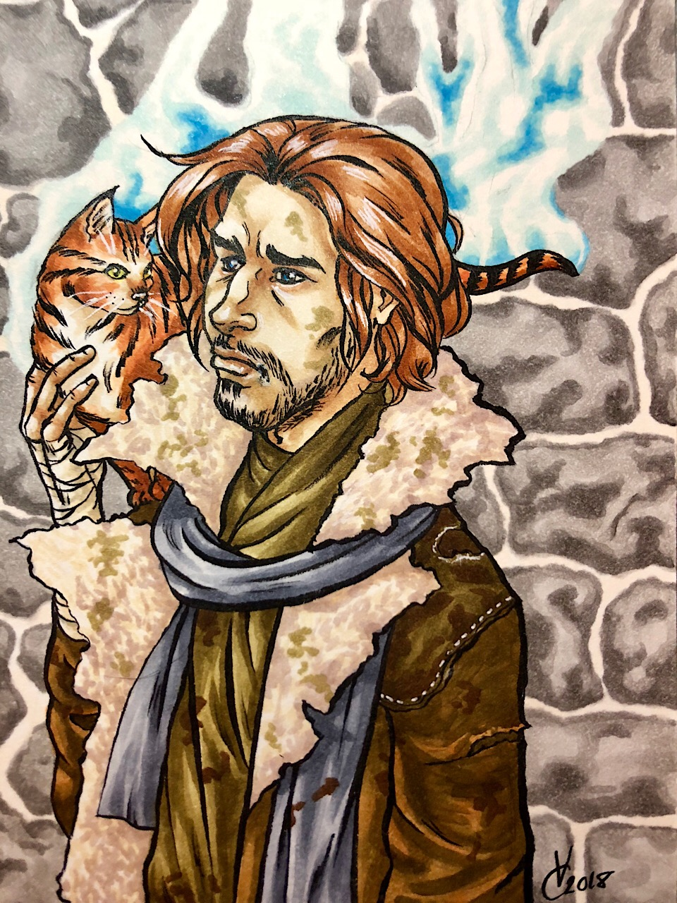 Critical Role Caleb Widowgast And Frumpkin
