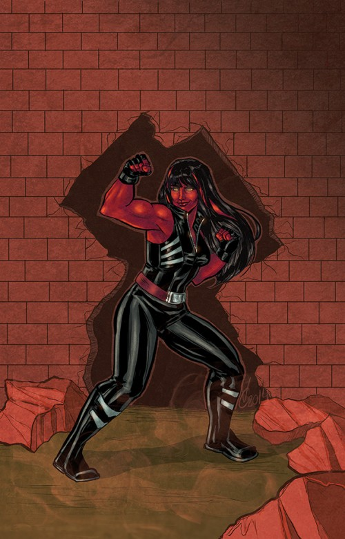 Unstoppable Red She-Hulk